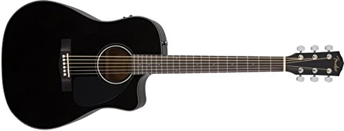 Fender CD-60CE Dreadnought Cutaway Acoustic-Electric Guitar - Black