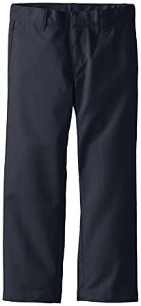 Lee Big Boys' Slim Straight Twill Flat Front Pant, Navy, 8