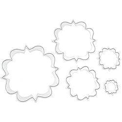 Cute Flower Circle Set Cutting Dies Set Metal Stencil Template Block DIY Paper Card