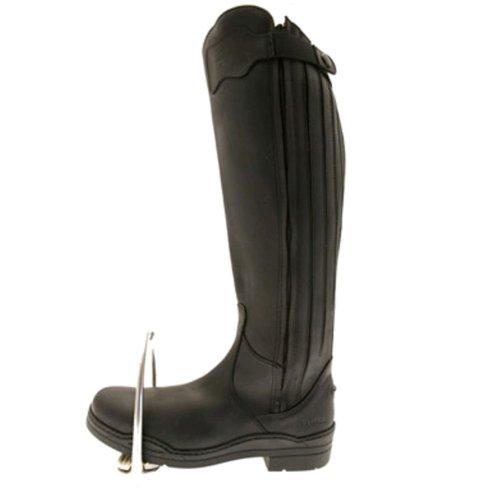 New Norfolk Stivali di pelle, da equitazione, misura gamba standard nero - nero