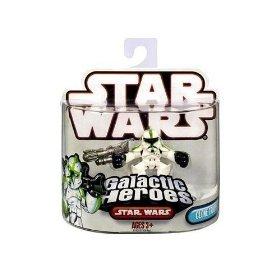 Star Wars 2009 Galactic Heroes Mini Figure Clone (Green Clone Trooper)