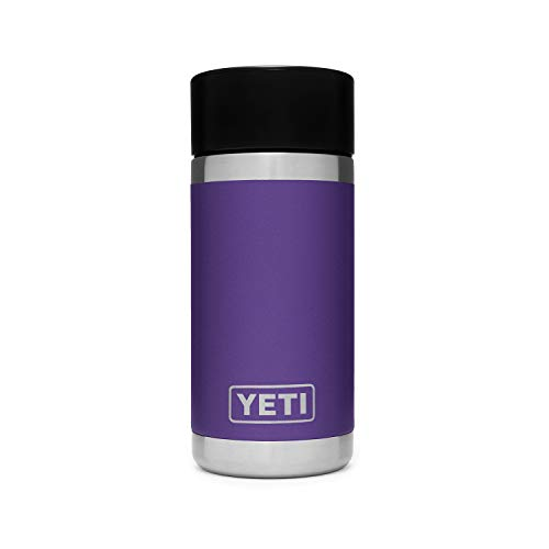 YETI Rambler 12 oz Bottle, Stainless Steel, Vacuum Insulated, with Hot Shot Cap