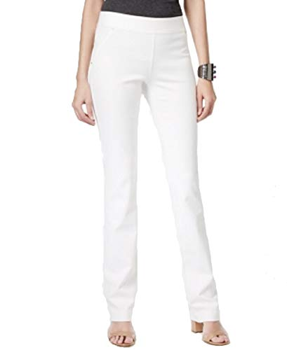(I.N.C. International Concepts Women's Petite Pull-On Straight-Leg Pants (Washed White, 0P))