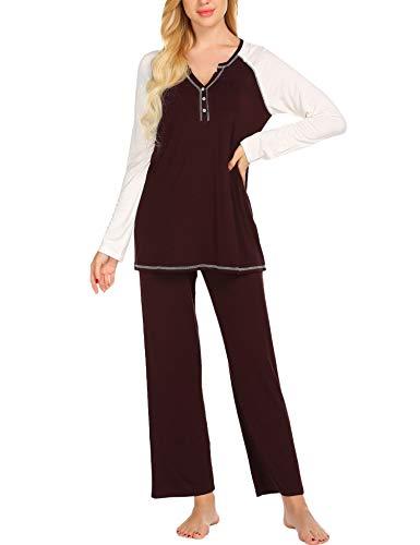 Ekouaer 2 Piece Pajama Set Women
