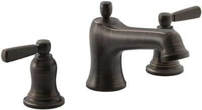 KOHLER Bancroft(R) Bath Faucet Trim for Deck-Mount Valve with Diverter Spout and Metal Lever Handles, Valve Not Included, Oil-Rubbed Bronze