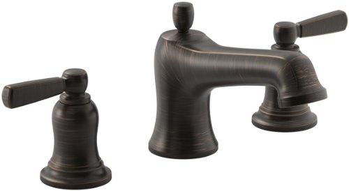 - KOHLER Bancroft(R) Bath Faucet Trim for Deck-Mount Valve with Diverter Spout and Metal Lever Handles, Valve Not Included, Oil-Rubbed Bronze