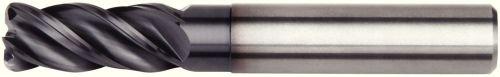 Straight Shank 1.5 mm Radius TiAlN Coating WIDIA Hanita 47N712025LT VariMill I 47N7 HP End Mill RH Cut 4-Flute 12 mm Cutting Diameter Carbide