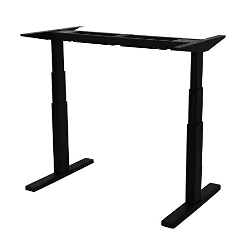 "AIMEZO 3 Tier Adjustable Legs Dual Motor Sit-Stand Desk Frame 71"" W Electric Height Adjustable Standing Desk Base by AIMEZO"