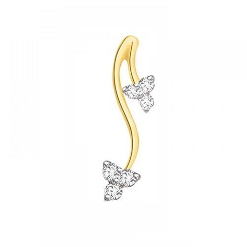 Or Jaune 9 ct Pendentifs Diamant , 0.08 Ct Diamant, GH-SI, 0.25 grammes.