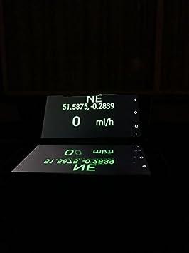 Portátil para Coche GPS HUD cabeza up display Reflector Espejo para teléfono móvil: Amazon.es: Electrónica