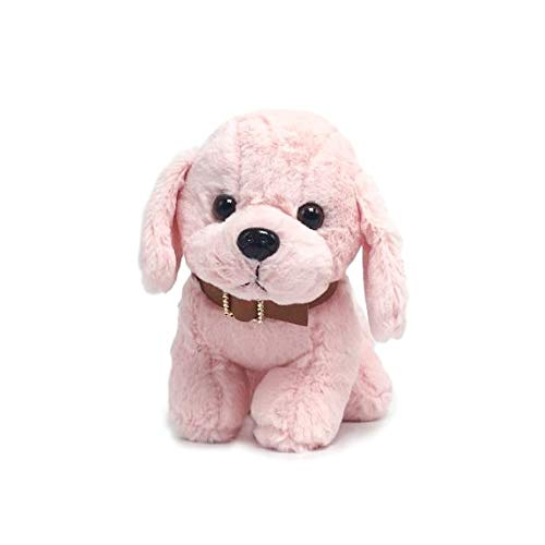 LDI Toy Dogs for Kids Stuffed Animals Labrador Plush Puppy Puppies Super Cute Adorable Brown Pink Adults Children (Pink) (Pink Puppy Stuffed)