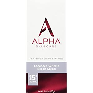 Alpha Skin Care - Enhanced Wrinkle Repair Cream, .15% Retinol, Real Results for Lines and Wrinkles| Fragrance-Free| 1.05-Ounce
