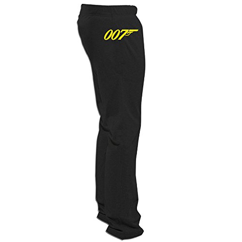 MGTER66 Men's Custom Running James Bond 007Trousers Black L (Homework Poster Large)