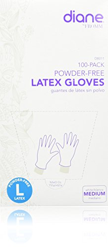 Diane D8011 Medium Latex Gloves, 100 Count