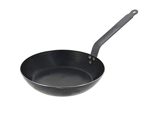De Buyer Professional 5300.28 Frying Fry Pan, blue steel - 28 cm / 11-in