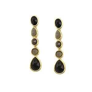 Jules Drop Earring - Black