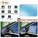 X AUTOHAUX 2pcs 100 x 100mm Round Car Rearview Mirror Nano Film Anti Rain Waterproof Anti-Scratch Clear Protective Sticker