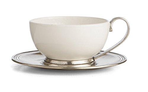 Arte Italica Tuscan Cup & Saucer, White by Arte Italica (Image #1)