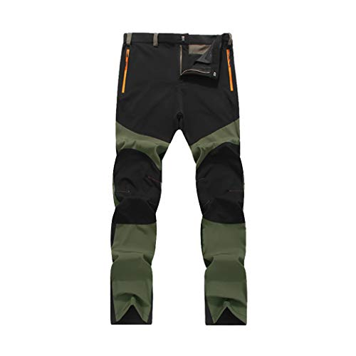 Alixyz Clearance Mens Waterproof Outdoor Trousers Tactical Hiking Climbing Warm Pants (4XL, Black)