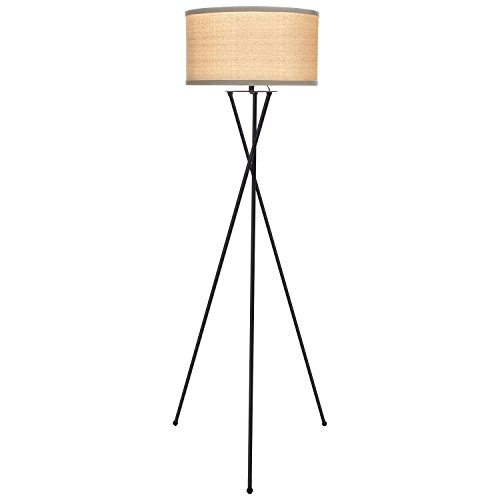 Brightech – Jaxon LED Tripod Floor Lamp – Mid-Century Charm with Contemporary Innovation – includes Brightech's LightPro LED 9.5-Watt Bulb – Classic Black