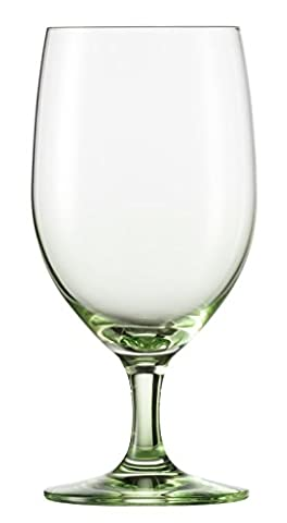 Schott Zwiesel Tritan Crystal Glass Forte Touch Barware Collection Water Glass Goblets, Set of 6, 15.3 oz, Green