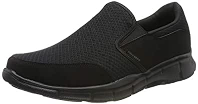 Skechers Sport Men's Equalizer Persistent Slip-On Sneaker,Black,6.5 M US