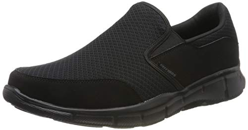 Skechers Sport Men's Equalizer Persistent Slip-On Sneaker, Black, 9 M US