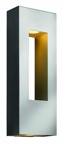 Hinkley 1649TT Contemporary Modern Two Light Wall Mount from Atlantis collection in Pwt, Nckl, B/S, Slvr.finish,