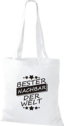 Shirtinstyle Cloth Bag Cotton Bag Best Nachbar White World