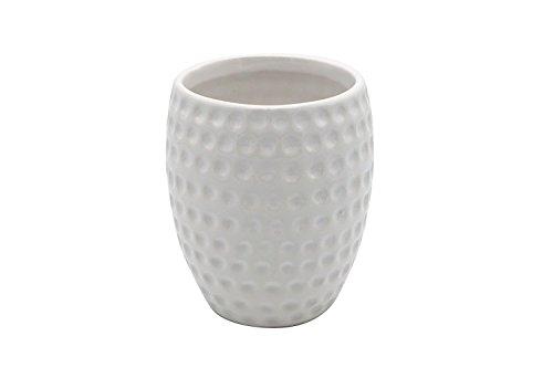 JynXos Ceramic 4 Pieces Bathroom Accessory Set With White Golf Ball Design Emsemble Sanitary Ware Home Decor Bath Ideas Home Gift