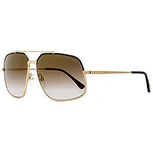 Tom Ford Sunglasses TF 439 Ronnie Sunglasses 01G Gold 60mm
