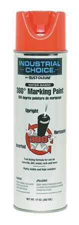 Marking Paint, Fluor. Red Orange, 17 oz. Pack of 5
