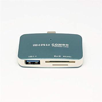 Tipo-c USB 3,0 Lector de Tarjetas con Cable para SDXC, SDHC ...