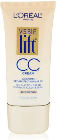 L'Oreal Paris Visible Lift CC Cream, Light/Medium, 1.0 Ounces