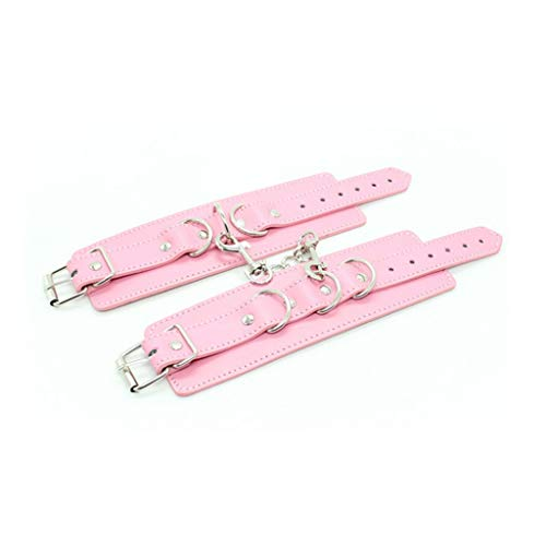CXQ Fun Leather Handcuffs for Women (Color : Pink)