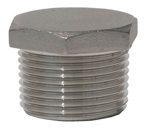 1/8'' M-NPT 304 Stainless Steel Hex Solid Pipe Plug, (Pack of 10) by ProFitter