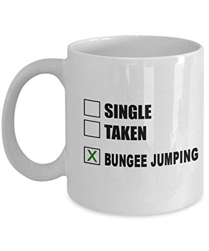 Bungee Jumping Coffee Mug - Great Gift For Bungee Jumping, Unique Bungee Jumping Hobby Cup, Ceramic Extreme Sport Gift