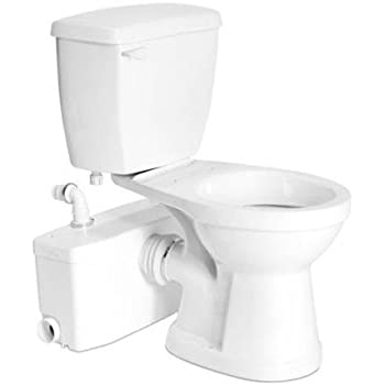 Saniflo sanibest macerating upflush toilet kit with elongated bowl two piece toilets for Thetford bathroom anywhere reviews