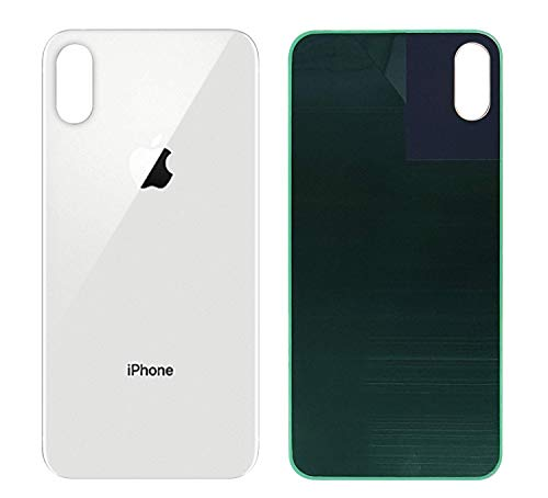 Best OEM iPhone Xs MAX Back Glass Cover Battery Door Replacement and Adhesive (Silver)