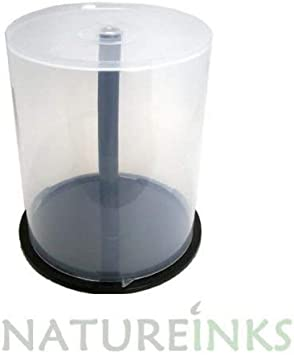 5 x 100 CD DVD Caja de almacenamiento bañera carcasa de plástico ...