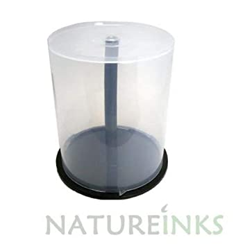 5 x 100 CD DVD Caja de almacenamiento bañera carcasa de plástico vacía para DVD CD BluRay discos eje Cake Box (capacidad para 500 discos)