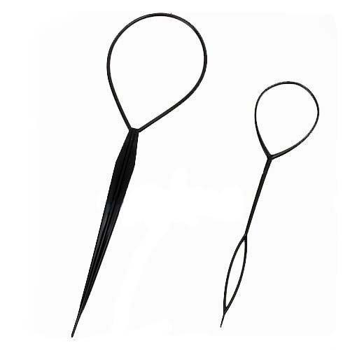 2Pcs Soins Cheveux Femme Topsy Queue De Cheval Styling Fabricant Outil DIY Braid G for U_FR Co. LTD