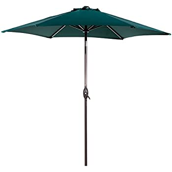Abba Patio 9 Ft Market Outdoor Aluminum Patio Umbrella With Tilt U0026 Crank,  Dark Green