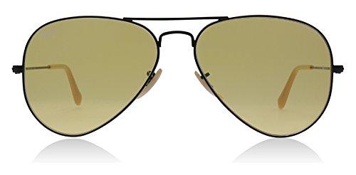 Unisex Men Women Classic Aviator Metal Designer Sunglasses with Case (Gray) - 6