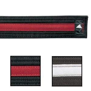 Century Double Wrap Deluxe Striped Black Belt Blk/Red 1