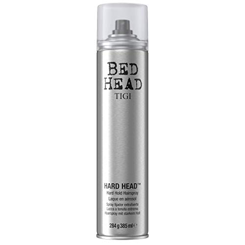 TIGI Bed Head Mini Hard Head Hard Hold Hairspray - For Maximum Long Lasting Hold & Control, Shine Finish, Conditions Hair, Instant Dry, 3 oz (Pack of 2)