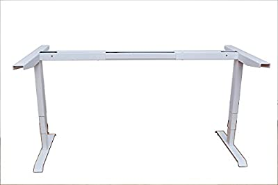Ergomax Electric Height Adjustable Sit-Stand Desk Dual Motor (White)