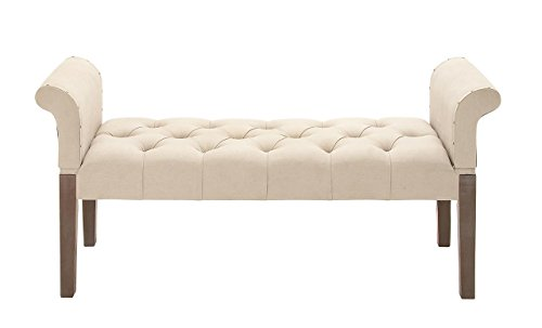 Deco 79 55764 Wood Fabric Bench, 53