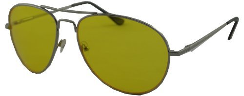 e0bf0ffe3b Image Unavailable. Image not available for. Colour  Yellow Lens Metal  Aviators Tinted - Retro Americana Sunglasses