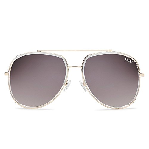 Quay Australia NEEDING FAME Women's Sunglasses Bold Aviator - - Sunglasses Plastic Personalized